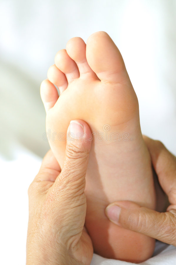 Foot Reflexology Series 6 royalty free stock photography