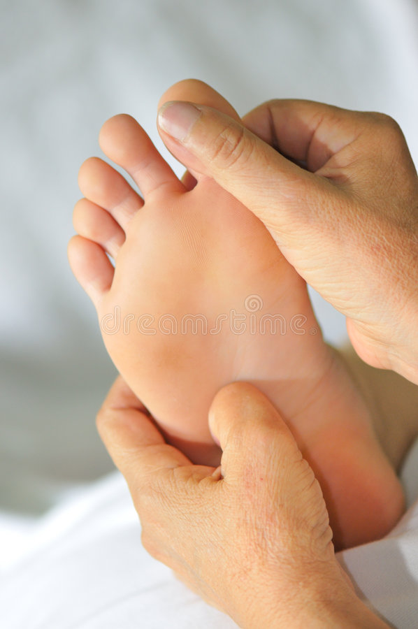 Foot Reflexology Series 7 royalty free stock photo