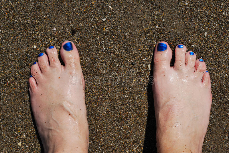 Foot On Sand Royalty Free Stock Photo