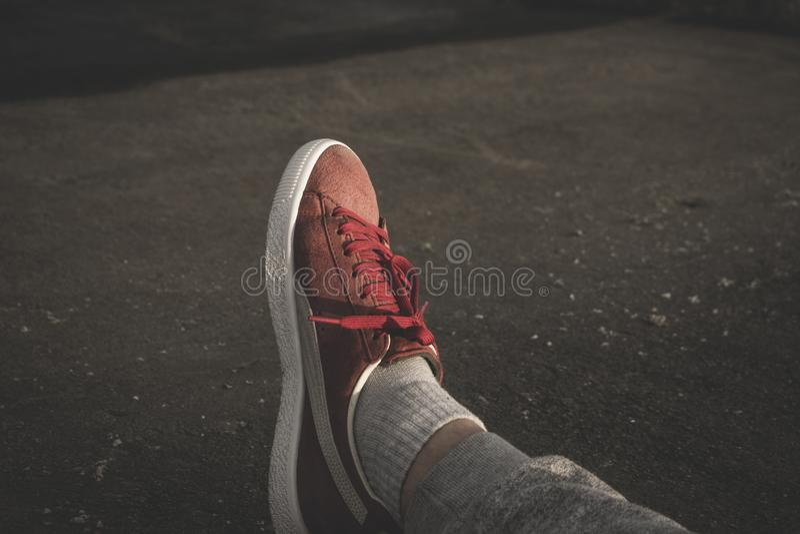 Foot In Sneaker Free Public Domain Cc0 Image