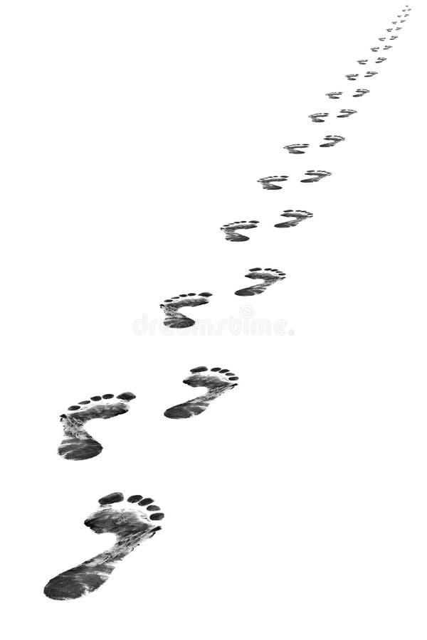 Foot steps vector illustration