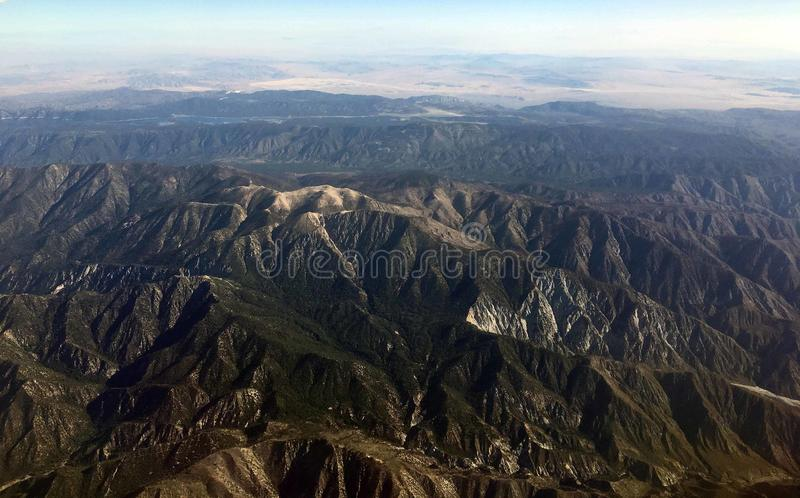 10,000 foot view of majestic mountain range royalty free stock photography