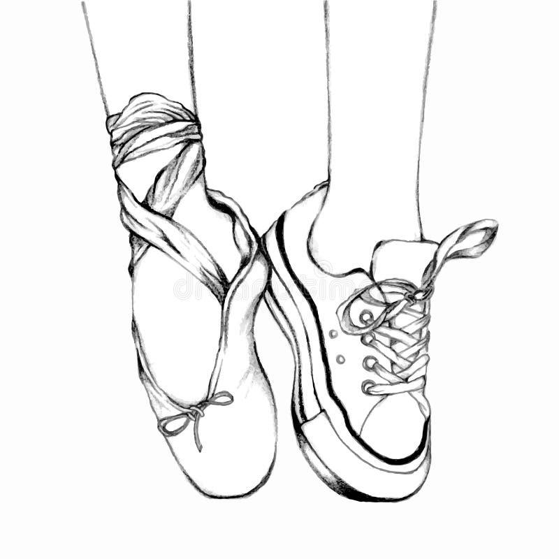 Image Of Dibujos Para Colorear Zapatillas De Ballet Para Colorear De ...