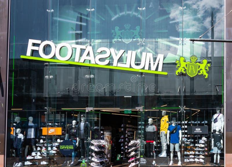 Footasylum lager Swindon royaltyfri bild