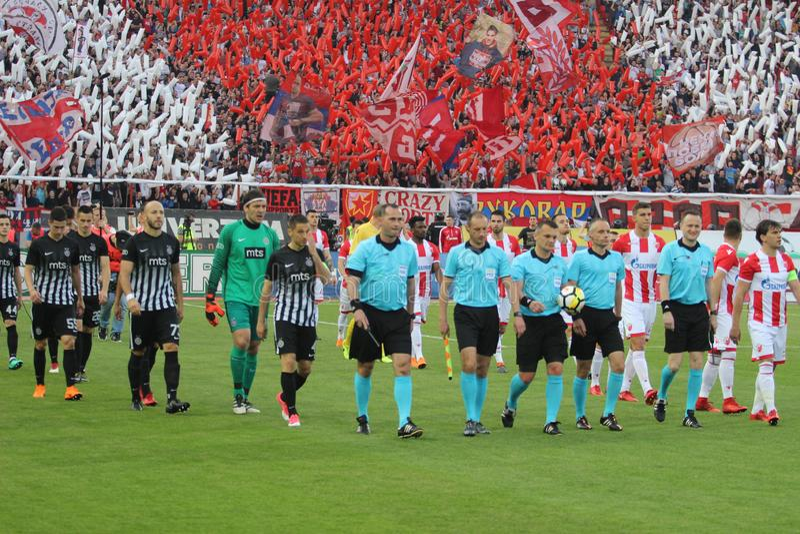 Footbal klubbaPartizan Belgrade royaltyfria bilder