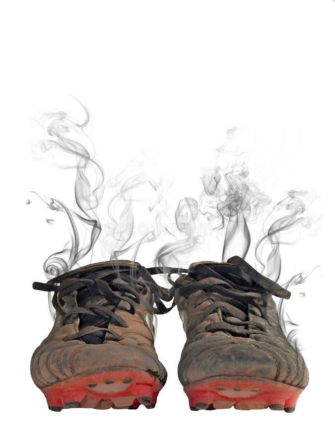 Footbal Schuhe stockfoto