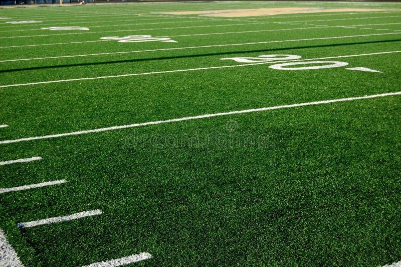 Football 20 Yard Line stock image