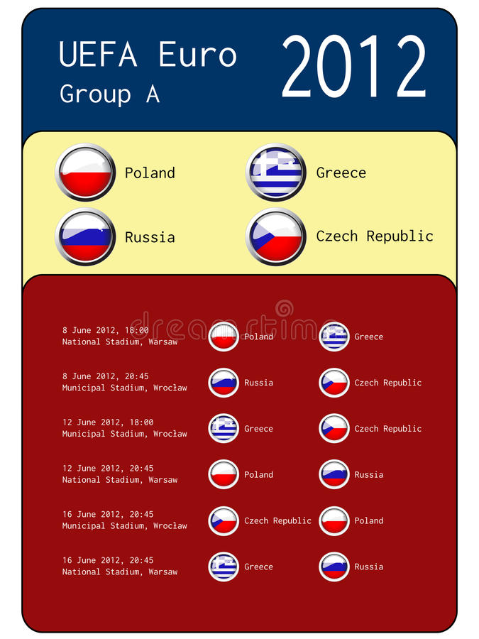 Download Football 2012 Match Schedule  - Group A Editorial Image - Image: 24804680
