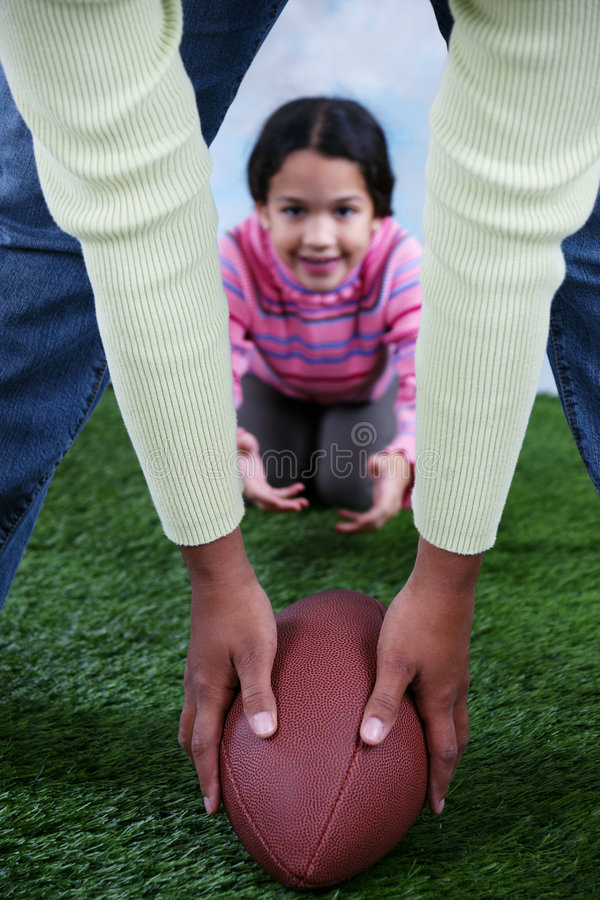 Football. On a field with child royalty free stock photos