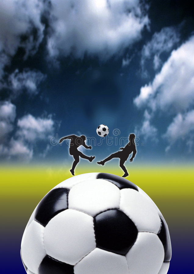 Football in action royalty free stock image