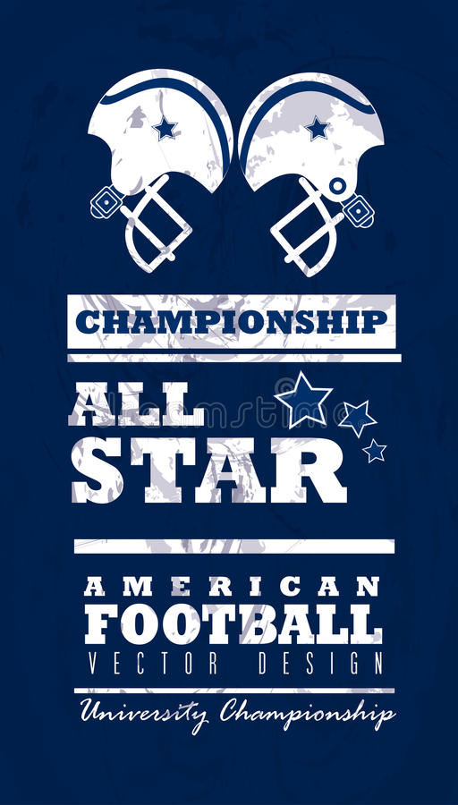 Football américain illustration stock