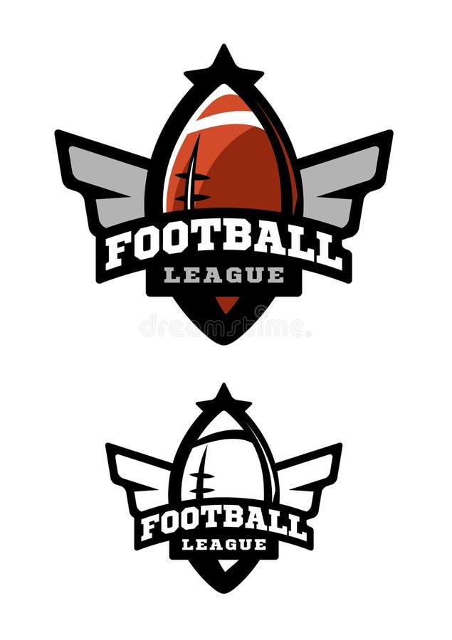 Football américain Deux variantes illustration de vecteur