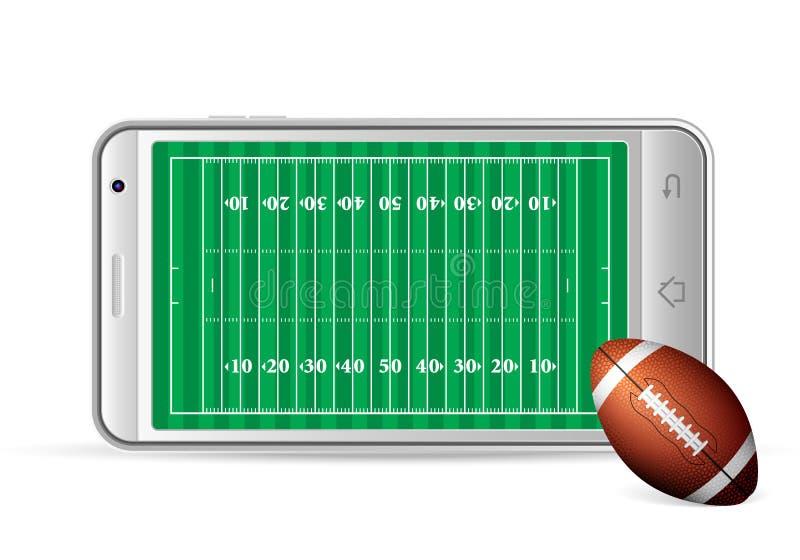 Football américain futé de téléphone illustration de vecteur