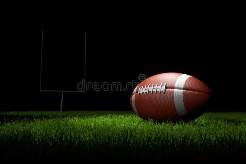 Football américain sur la zone illustration libre de droits
