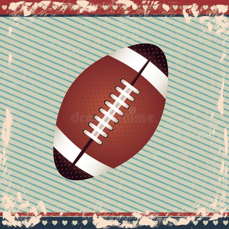 Football americano illustrazione di stock