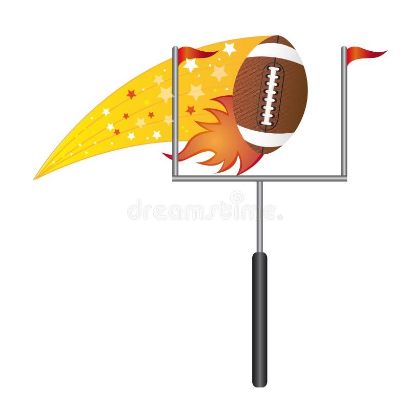 Football americano con il palo illustrazione vettoriale