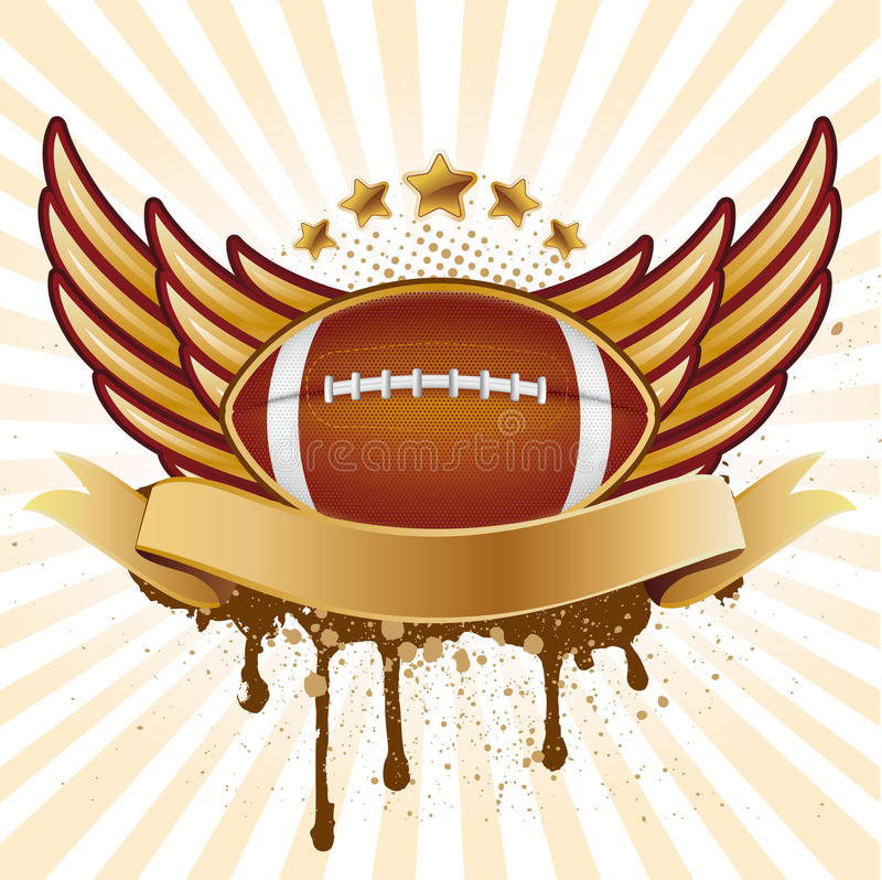 football americano ed ala illustrazione di stock