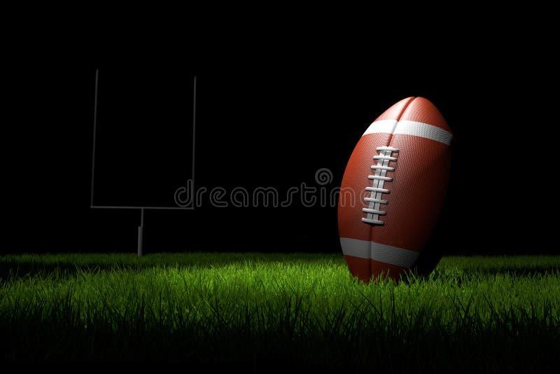 Football americano sul campo illustrazione vettoriale