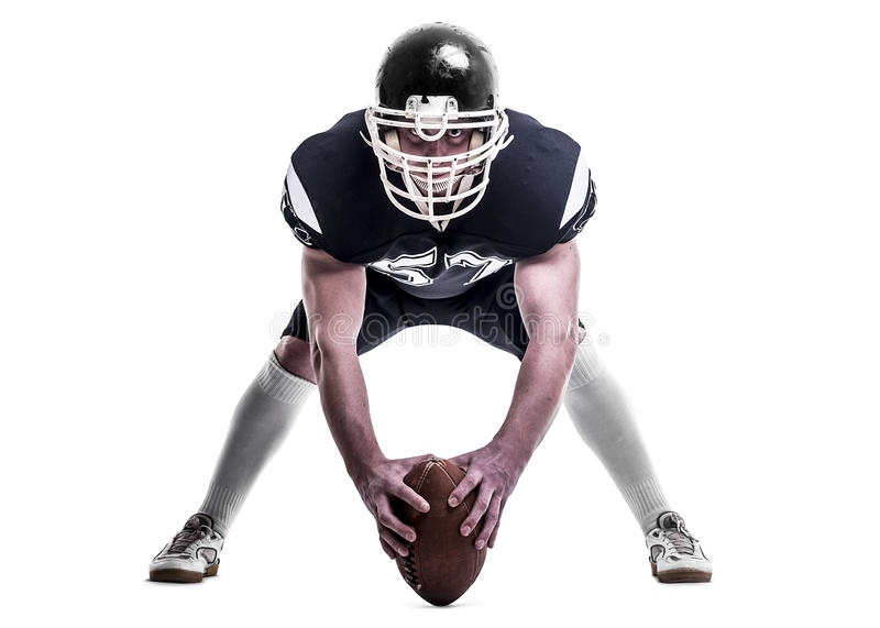 football amerykański gracza zdjęcie royalty free