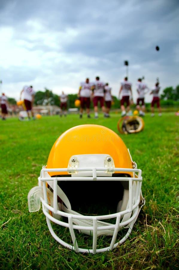 football amerykański hełm zdjęcie royalty free