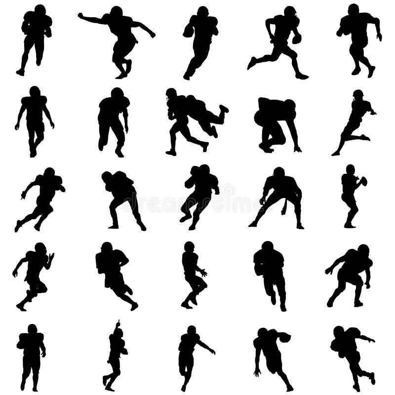 football amerykański zestaw ilustracji