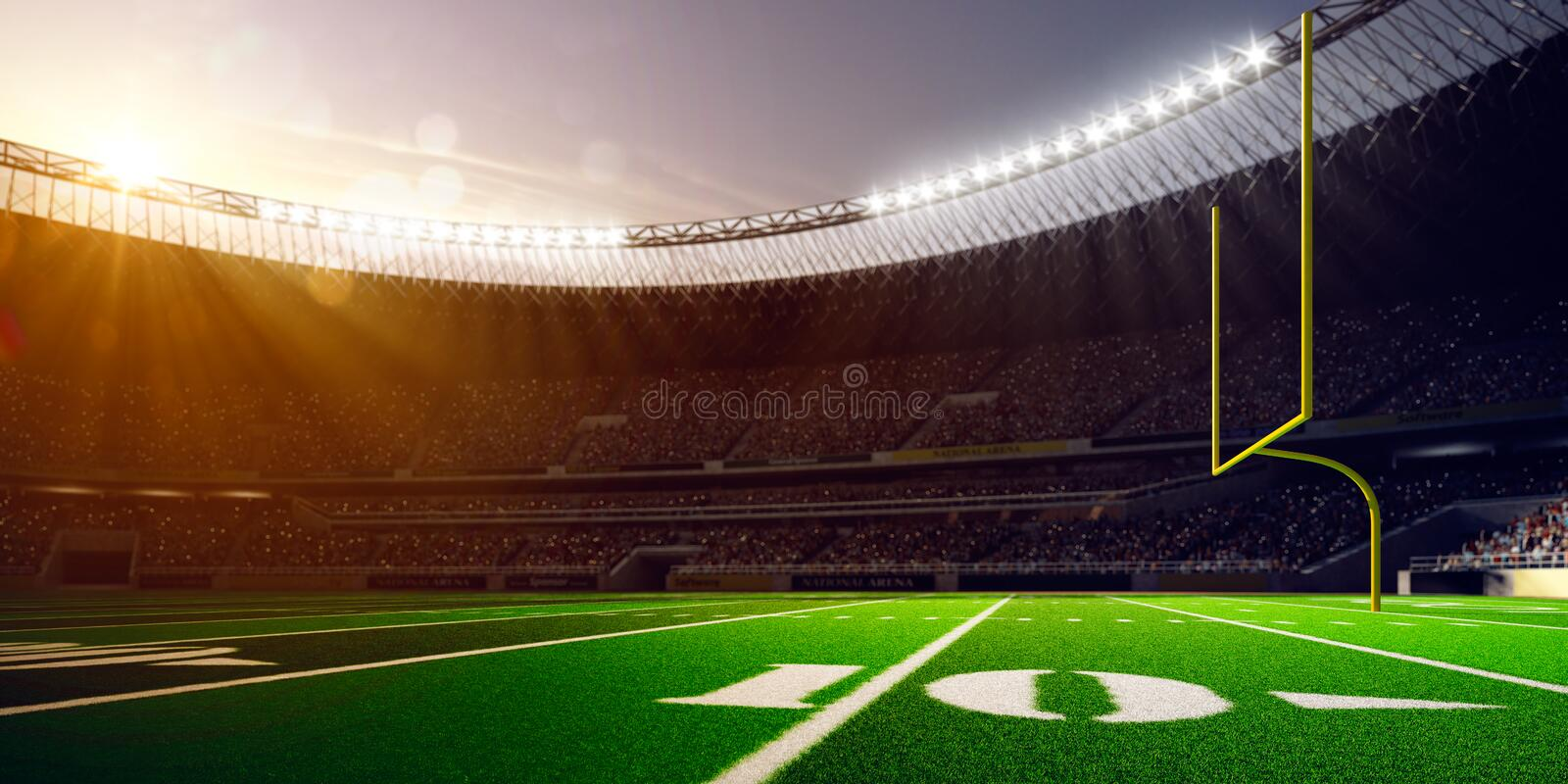 Football Arena Stadium Day stock images