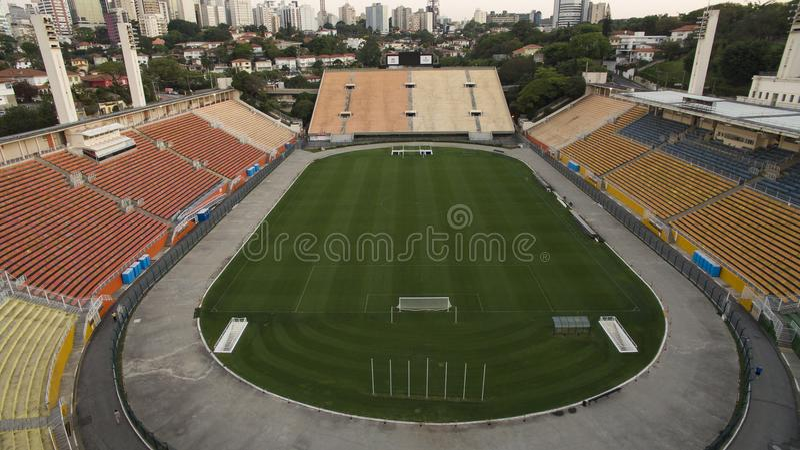 Football around the world, Pacaembu Stadium Sao Paulo Brazil stock photos
