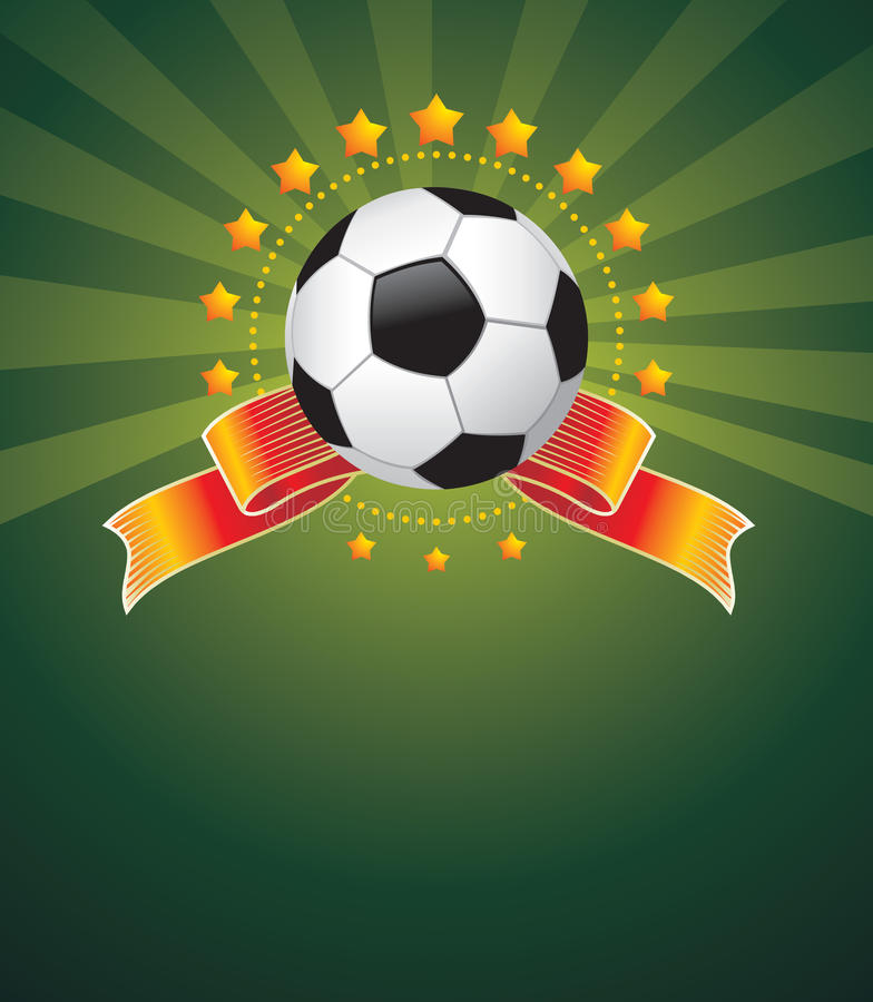 Football background stock illustration