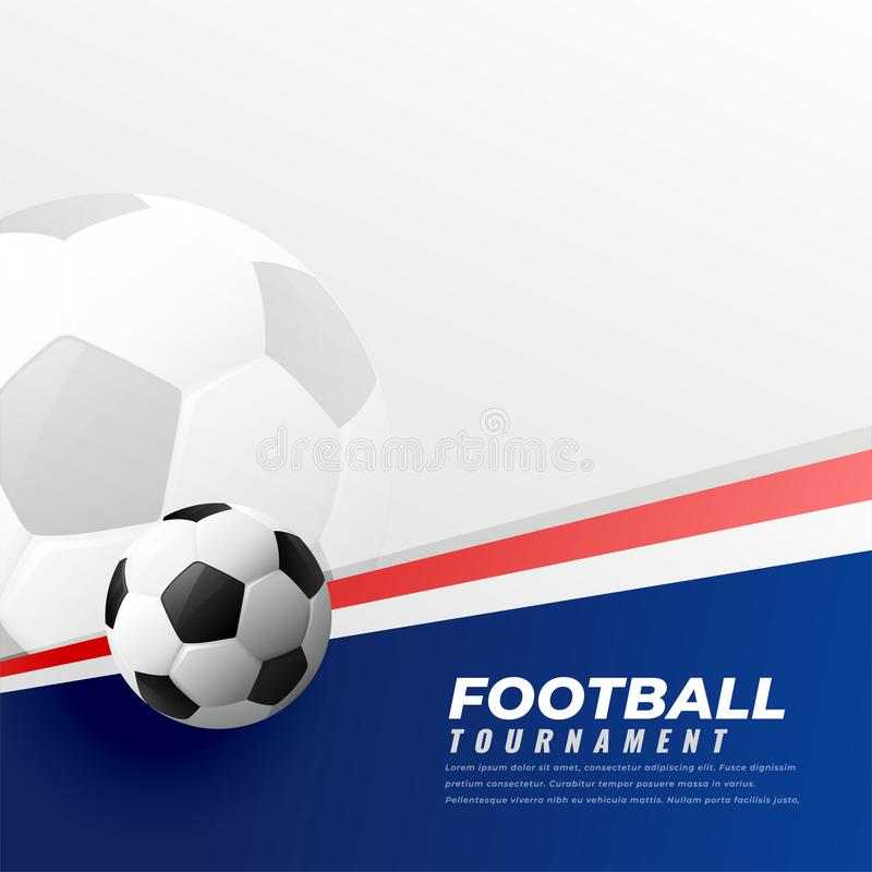 Football background with text space. Illustration stock illustration