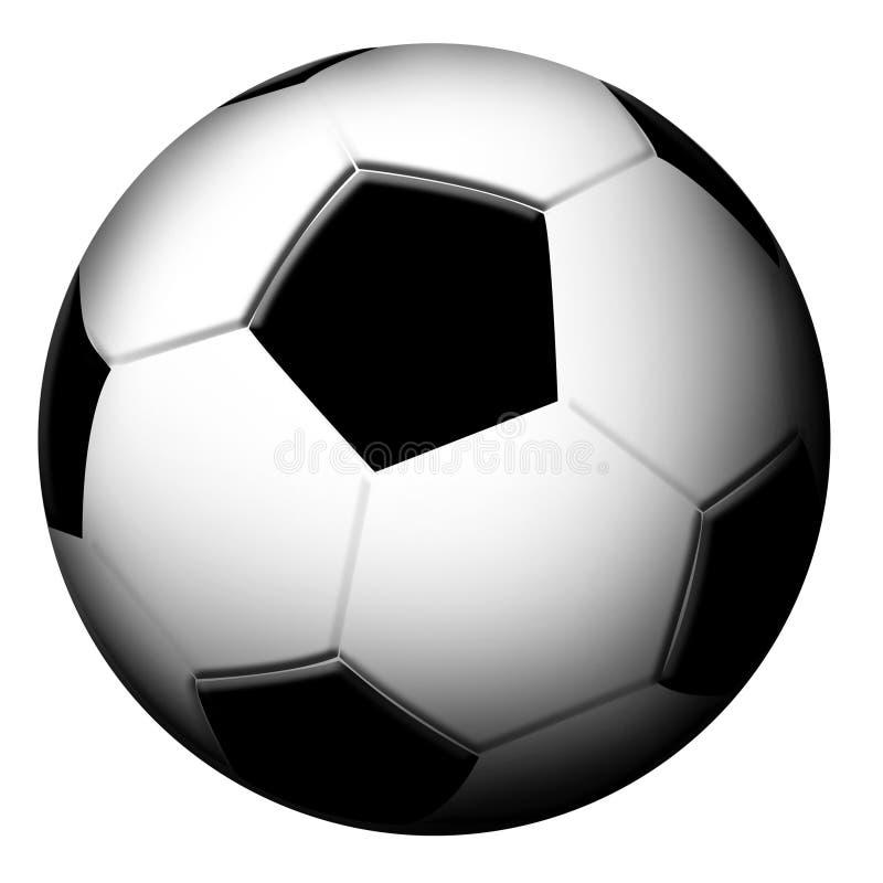 Football ball. On white background vector illustration