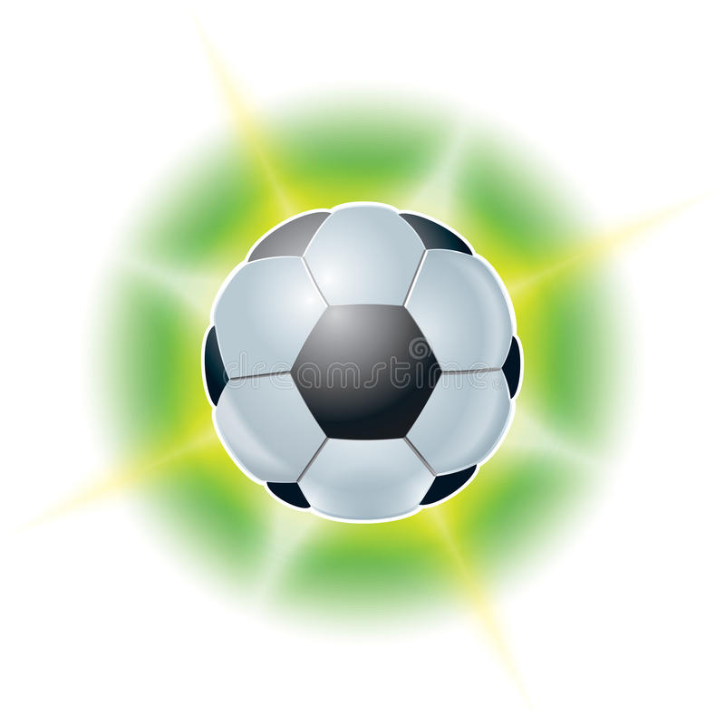 Football ball. Abstract illustrations stock photography