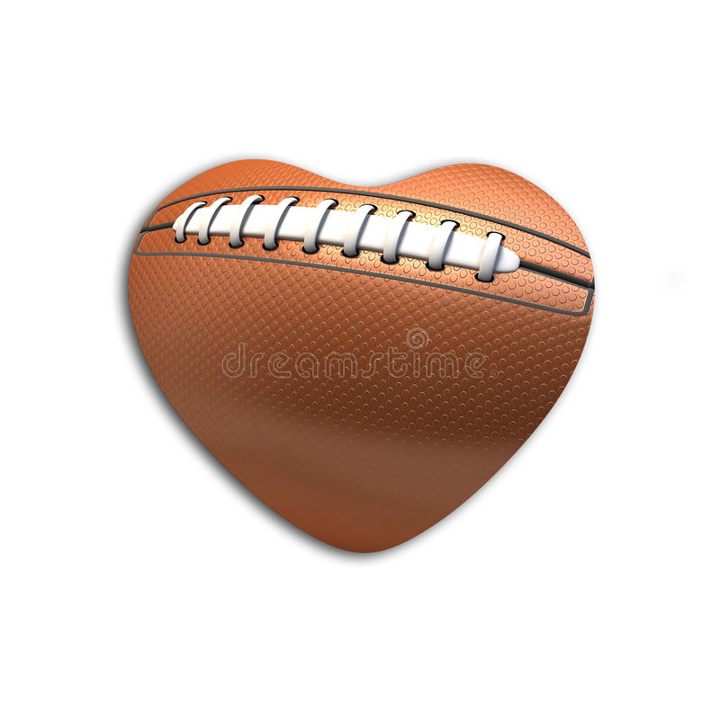 Download Football Ball  In The Shape Of Heart Stock Illustration - Image: 18641148