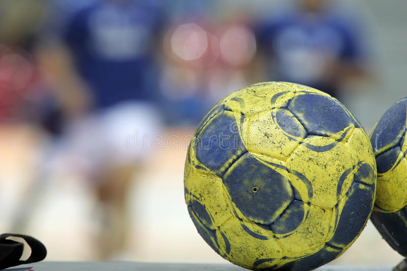 Football balls. Are waiting for the start of the football game stock image
