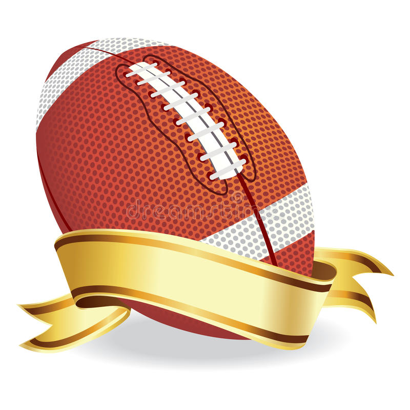Football with banner stock illustration