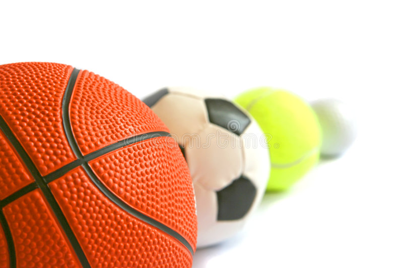 Download Football, Basketball, Tennisball And Golf Ball In Stock Image - Image: 8212625