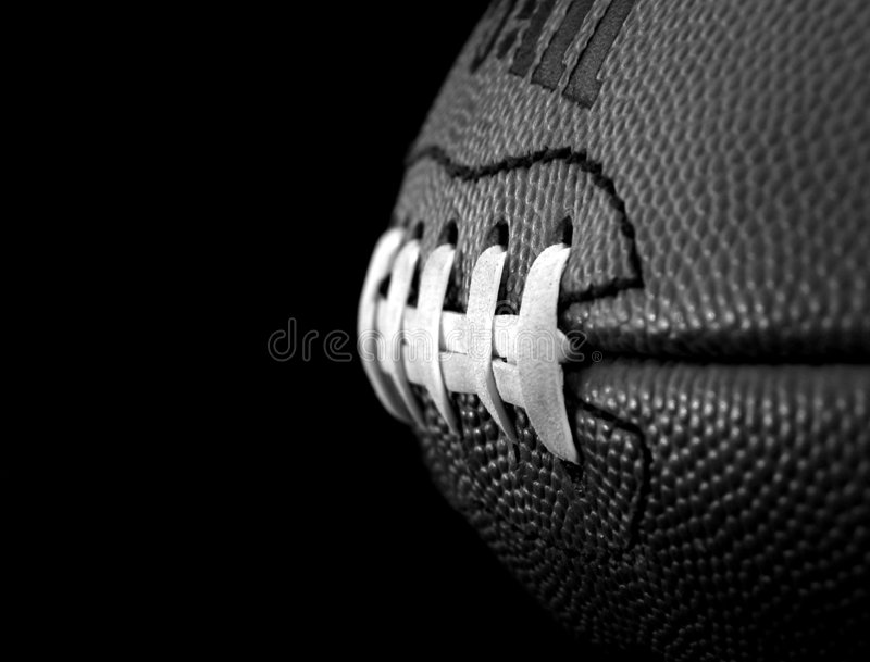 Football in black and white royalty free stock image