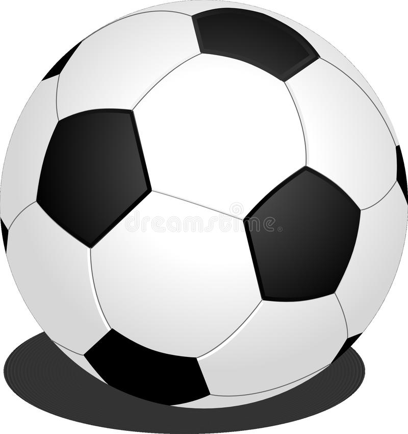 Football, Black And White, Ball, Sports Equipment stock image