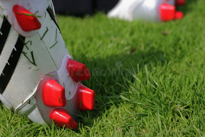 Football boots royalty free stock photo