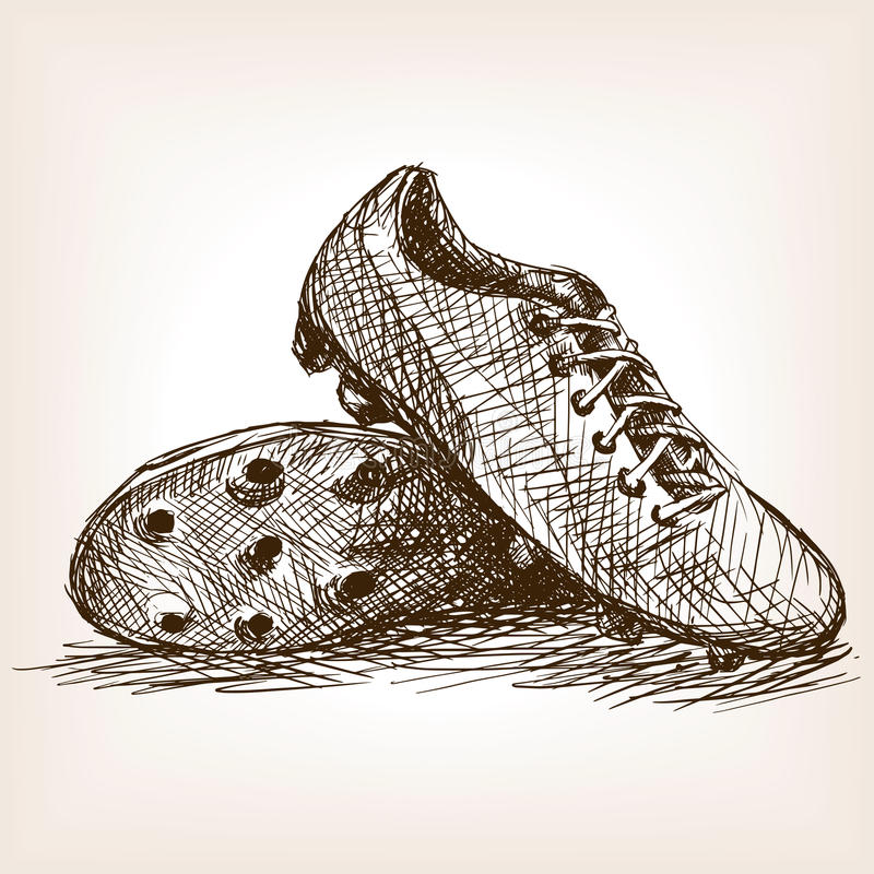 Free Football Boots Hand Drawn Sketch Style Vector Royalty Free Stock Photo - 66930855