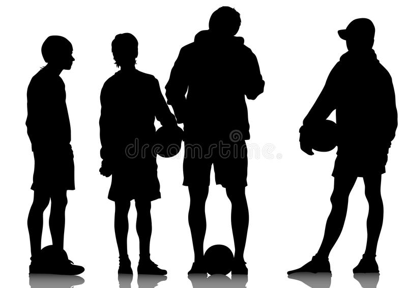Download Football boys stock vector. Image of athlete, pass, recreation - 24090291