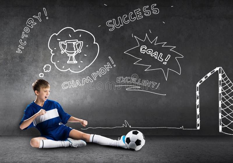Football champion stock photos