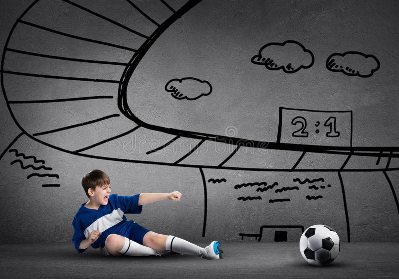Football champion stock photo