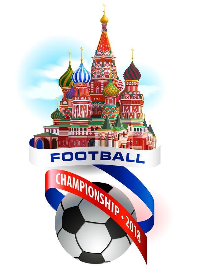 Football championship 2018 art composition. stock illustration
