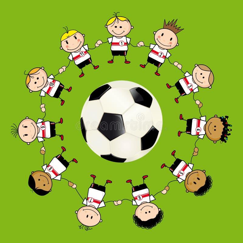 Download FootBall ChildrenTeam stock illustration. Illustration of native - 17681791
