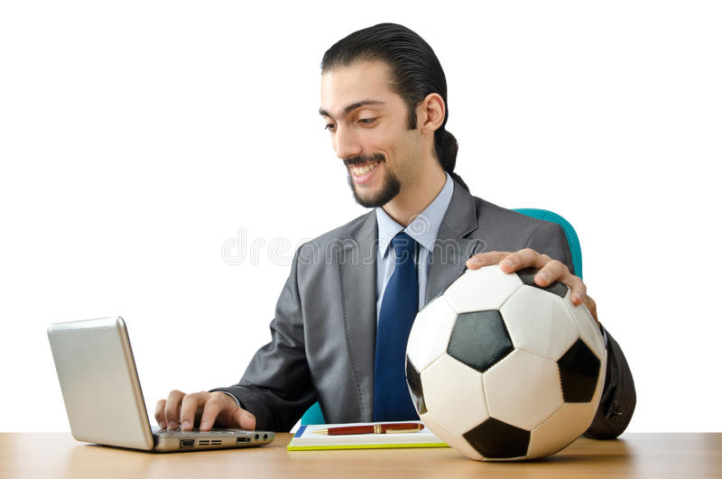 Football Concept With Businessman Royalty Free Stock Photography