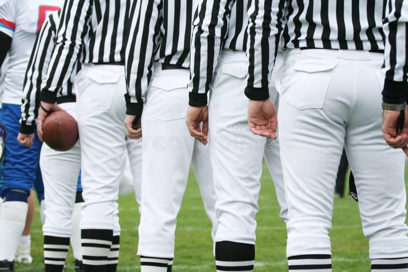 Football concept - Referees royalty free stock photos