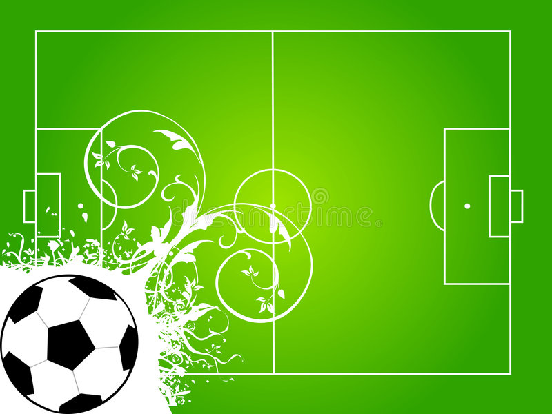 Download Football court stock illustration. Illustration of decorative - 5453194