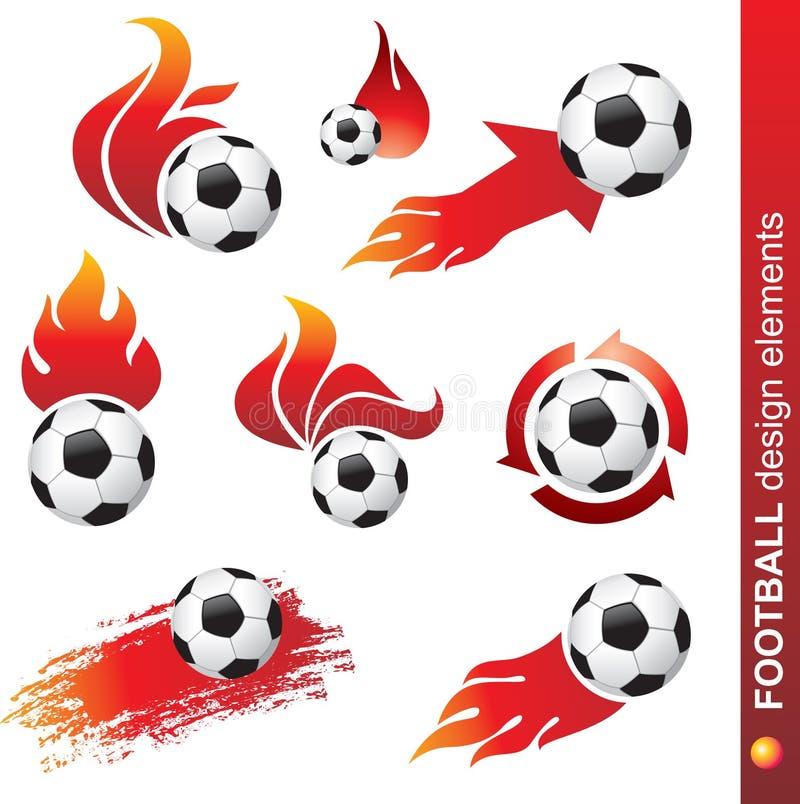 Football design elements stock illustration