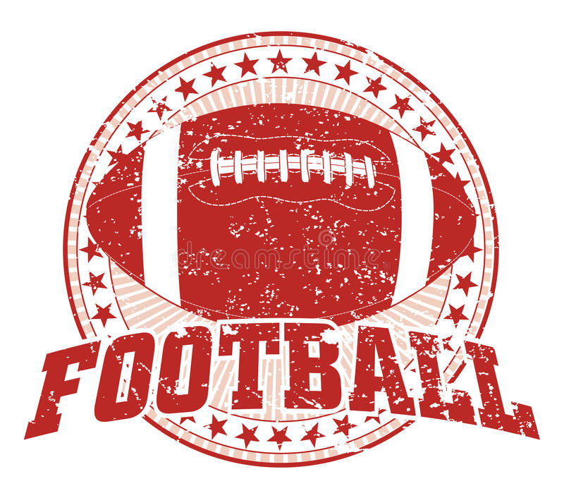 Football Design - Vintage. Illustration of a Football design in vintage distressed style with a circle of stars. The distressed look is removable in the vector vector illustration
