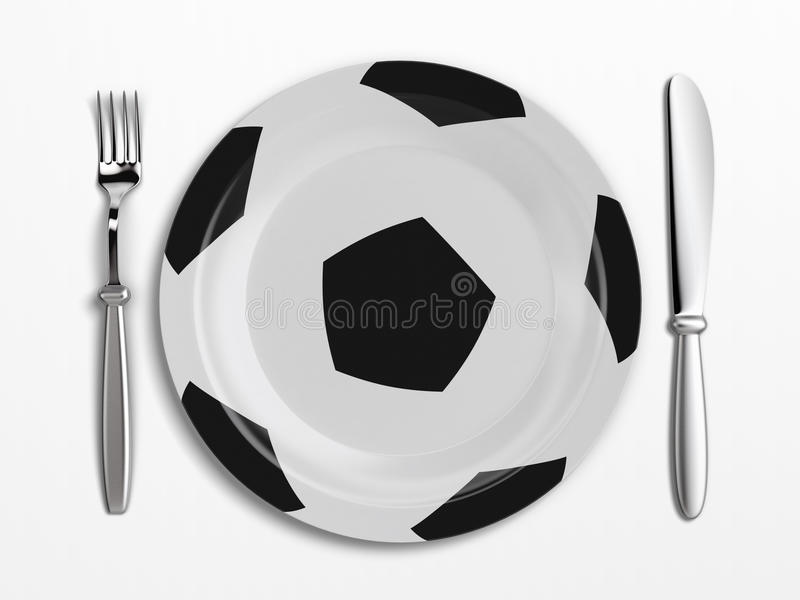Football dish royalty free illustration